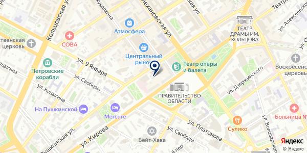 Клиника Эксперт на карте Воронеже