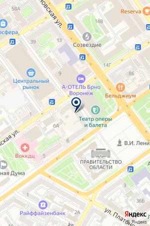 Почтовое отделение №18 на карте Воронежа