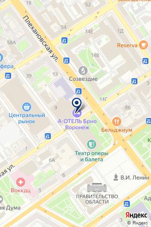 Бунгало на карте Воронежа