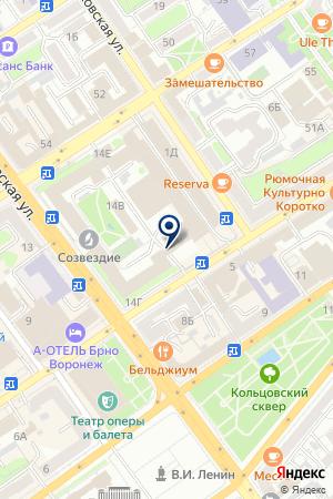 Созвездие на карте Воронежа