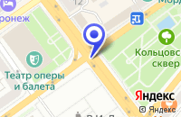 Схема проезда до компании ЭНЕРГОПРОФ в Воронеже