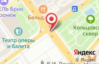 Схема проезда до компании Типография  в Воронеже