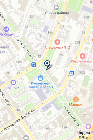 Поликлиника №1 на карте Воронежа