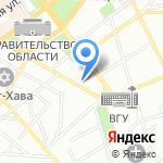 Алексеевка ХИММАШ на карте Воронежа