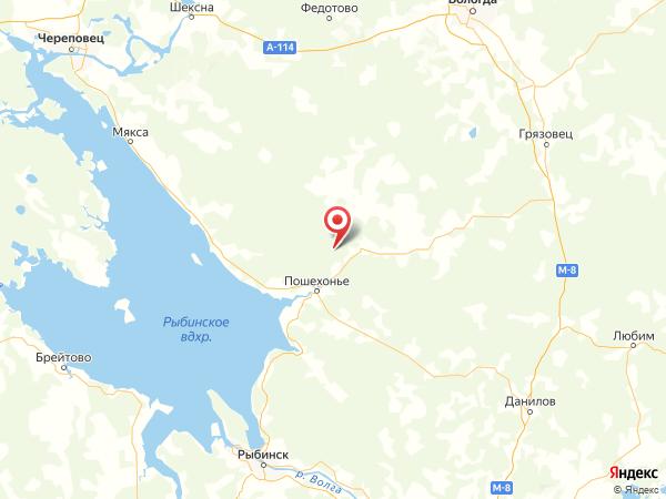 деревня Курбатово на карте