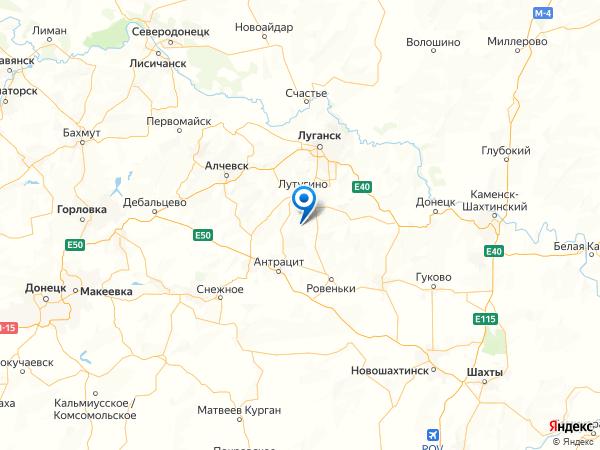 село Ореховка на карте