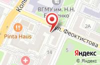 Схема проезда до компании Клиника  в Воронеже