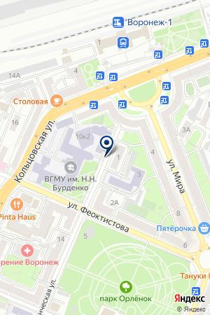 Фемида-Групп на карте Воронежа