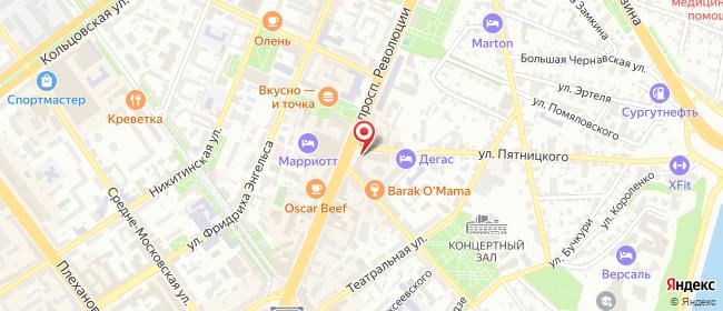 Карта расположения пункта доставки Ростелеком в городе Воронеж