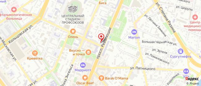 Карта расположения пункта доставки Воронеж Революции в городе Воронеж