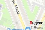 Схема проезда до компании Кипос в Воронеже