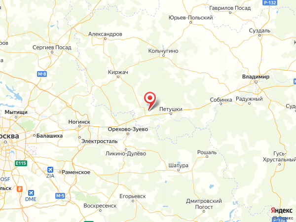 деревня Иваново на карте
