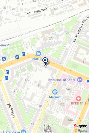 Вивасан на карте Воронежа
