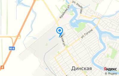 Местоположение на карте пункта техосмотра по адресу Краснодарский край, ст-ца Динская, ул Красная, д 121Б