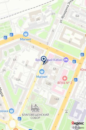 Центр современной педиатрии на карте Воронежа