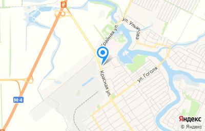 Местоположение на карте пункта техосмотра по адресу Краснодарский край, ст-ца Динская, ул Красная, д 154