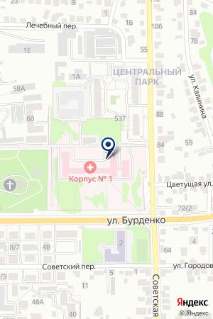 Областная детская клиническая больница №1 на карте Воронежа
