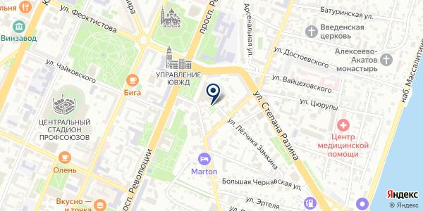 Baunty на карте Воронеже