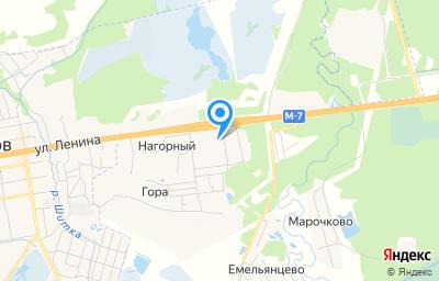 Местоположение на карте пункта техосмотра по адресу Владимирская обл, Петушинский р-н, п Нагорный, ул Зелёная