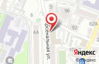 Схема проезда до компании Небо в Воронеже