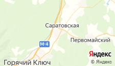 Отели города Саратовская на карте