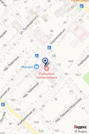 Стоматологическая поликлиника на карте Динской