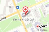 Схема проезда до компании Дельта-М в Воронеже
