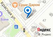 Магазин одежды на Красной (Динская) на карте