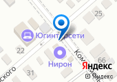 Магазин мясной продукции на ул. Луначарского (Динская) на карте