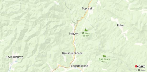 Индюк на карте