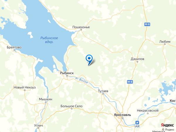деревня Ушаково на карте