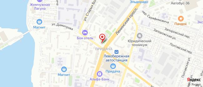 Карта расположения пункта доставки СИТИЛИНК в городе Воронеж