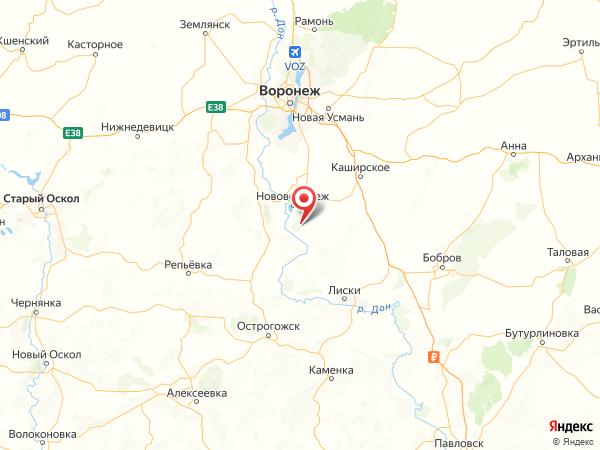 хутор Осинки на карте