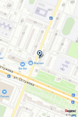 Белорусочка на карте Воронежа