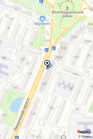 Пятью Пять на карте Воронежа