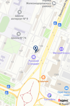 Триколор на карте Воронежа