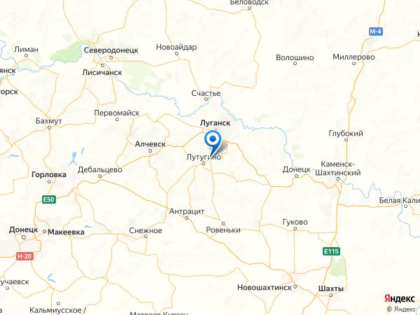 поселок городского типа Георгиевка на карте