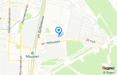 Местоположение на карте пункта техосмотра по адресу г Воронеж, ул Чебышева, д 36А
