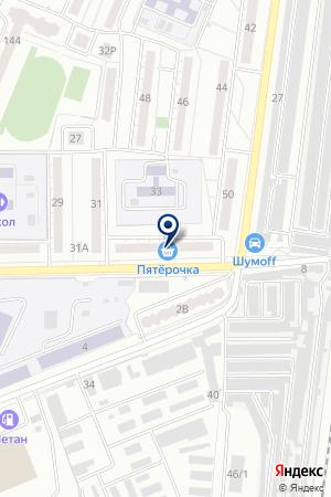 Пятёрочка на карте Воронежа