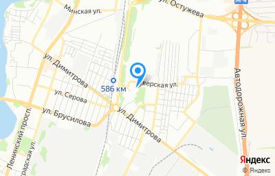 Местоположение на карте пункта техосмотра по адресу г Воронеж, ул Обручева, д 3