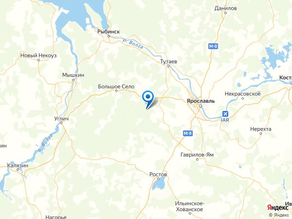поселок Дмитриевское на карте