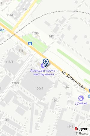 Новострой на карте Воронежа
