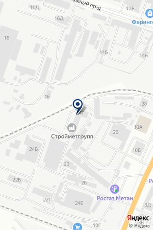 СТРОЙМЕТГРУПП на карте Воронежа