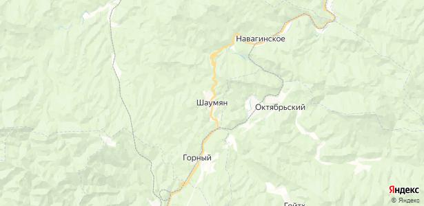 Шаумян на карте