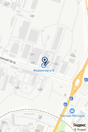 Ферингер и К на карте Воронежа