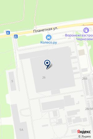 Видеофон на карте Воронежа