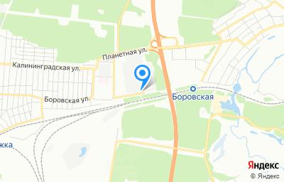Местоположение на карте пункта техосмотра по адресу г Воронеж, ул Планетная, д 26