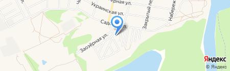 Зелёный берег на карте Краснодара
