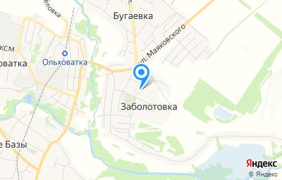 Местоположение на карте пункта техосмотра по адресу Воронежская обл, Ольховатский р-н, п Заболотовка, ул Новаторов, д 14К