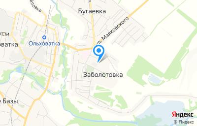 Местоположение на карте пункта техосмотра по адресу Воронежская обл, Ольховатский р-н, п Заболотовка, ул Новаторов, зд 14К